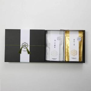 <贈答用・ご家庭用> プレミアム嬉野茶2袋入りセット 【特上玉緑茶、釜炒り茶】