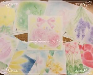 オリジナルカレンダー ♡Seasonal flowers 2018 Calendar ♡