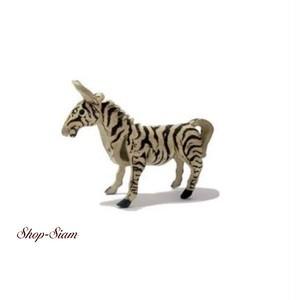 本牛革 アニマル キーチェーン しまうま/Zebra ハンドメイド製