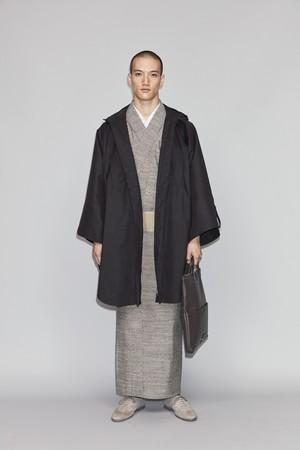 きもの / 遠州綿紬 / 雨縞 / Gray(With tailoring)