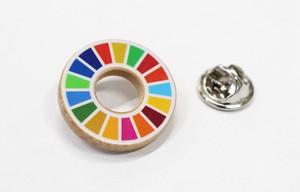 木製SDGsバッジ 10個(ピンバッジ)