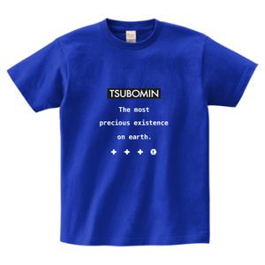 TSUBOMIN / MESSAGE BOX LOGO T-SHIRT J-BLUE