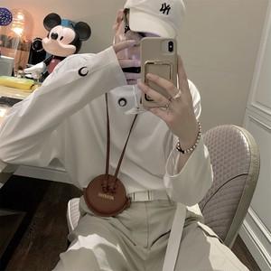 ★UNISEX プチハイムーンロングTシャツ(Black,White,Grey) 9300