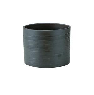 胴巻炭華ロック型カップ黒〜土の温もりを感じる器〜