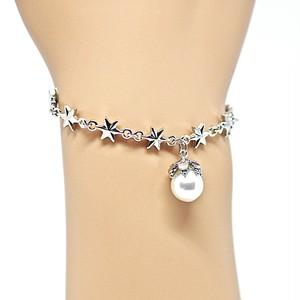 あこや本真珠の木の実ときらきらスターのブレスレットB