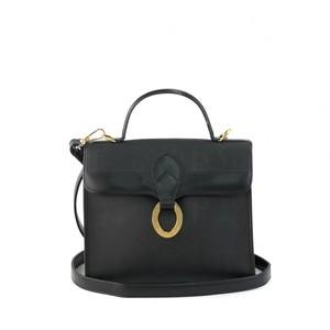 Christian Dior クリスチャン ディオール サークルロゴ ケリー 2WAY ショルダーバッグ ハンドバッグ ブラック vintage ヴィンテージ オールド n7n2i6