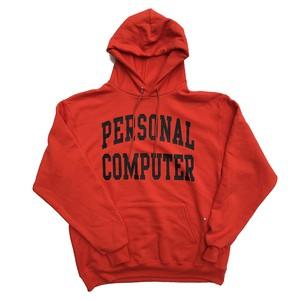 【残りわずか】mas. / PERSONAL COMPUTER UNIVERSITY ECO FLEECE PULLOVER HOODED / Orange×Black