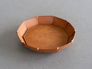 [New]革皿L Cognac