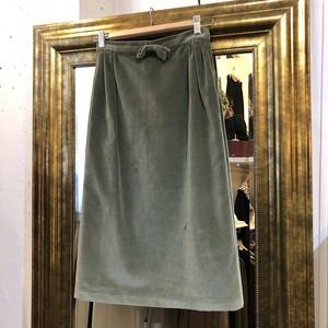VINTAGE smoky green velvet skirt