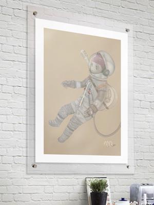 【Space Girl】■ジクレー版画 ■B3 ■デジタル画 ■額装込