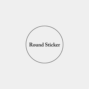 Round Sticker_円形ステッカー_30mm_100枚