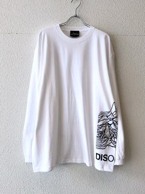 "【19013】LONG SLEEVE BIG Tee ""DISORDER TOUR"" (WHITE)"