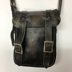 70's Harley Davidson SADDLE LETHER SHOULDER BAG(黒)