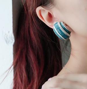 dead stock silver+blue earrings