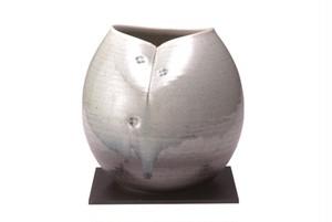 信楽焼清流 花瓶 G5-6103