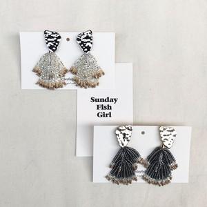 metal beads earring