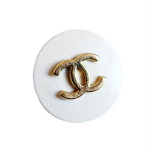 【VINTAGE CHANEL BUTTON】ホワイト ゴールドココマーク ボタン 15㎜ C-19144