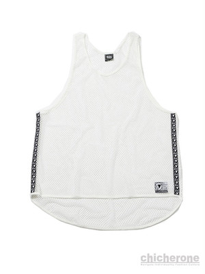 【SILLENT FROM ME】MIST -Net Tank Top- WHITE