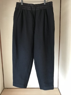 YANTOR 2018AW  Cotton Linen Wool Taperd Gom Pants / Black