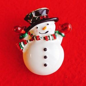 クリスマスミニブローチ  スノーマン