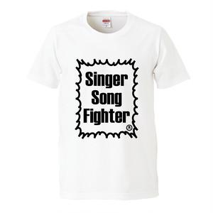 【L、LLサイズ入荷】Singer Song Fighter ロゴTシャツ(ホワイト)