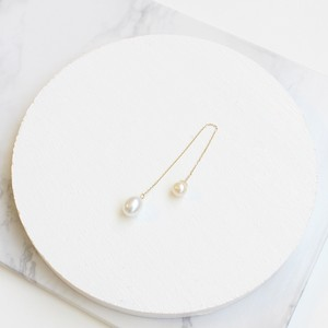 ■drop pearl swing pierce -white-■ ドロップパールスイングピアス ホワイト