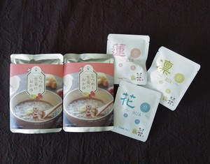なつめと生姜のお粥 2袋 と オリジナル薬膳茶のセット