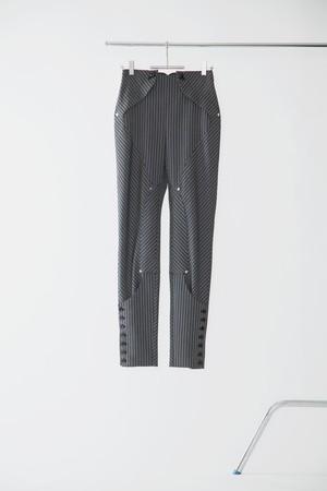 【FW20先行受注】jodhpurs pants 〈gray / black / white〉