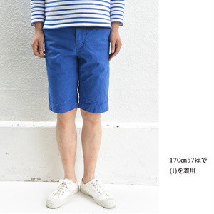 【SALE】have a good day overdye trousers shorts Royal