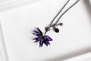 ディップネックレス *菱、紫水晶。