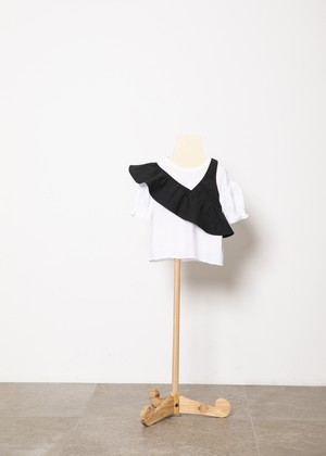 【21SS】folkmade(フォークメイド) one shoulder black(L)