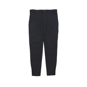 CHINO STRETCHED CARGO TAPERED PANTS - BLACK
