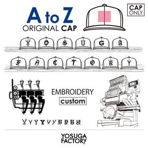 YOSUGA FACTORY『AtoZ -ORIGINAL- EMB(刺繍)』custom【CAP ONLY】