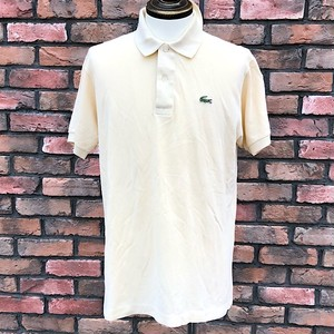 1980s Lacoste Polo Shirt L/Yellow Made In France 5