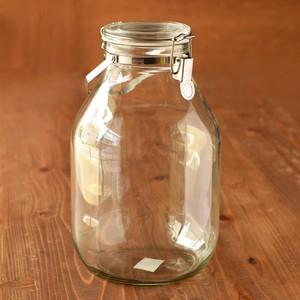 【発酵仕込みに】ガラスの密封びん(4L)