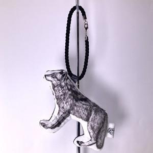 【PAViLiON】オオカミバッグチャーム(左向き黒紐/右向き黒紐 or白紐)