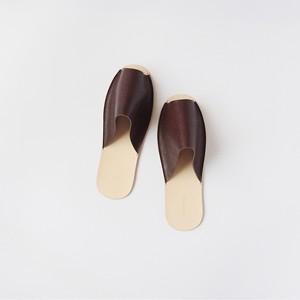 【残り1点】スリッパ Slippers (dark brown)