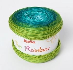 col.82 Katia Top Rainbow --グリーン/グリーンブルー