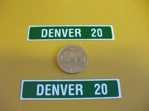 標識「ブリキ製「DENVER20」(2枚セット)」屋外可・送料無料