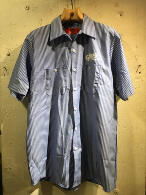 RKUGAKI Bandana Work Shirts GM Blue x White