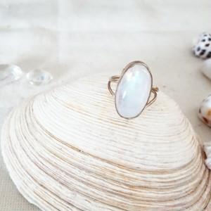 8号【silver925】moonstone ring