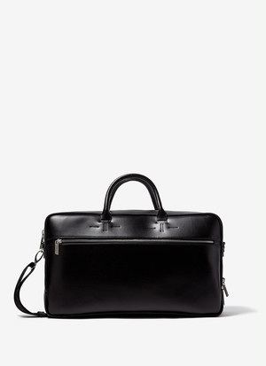 FAUX-LEATHER BRIEFCASE WITH TWO HANDLES