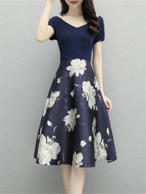 【dress】Fashion beautiful floral pattern dress