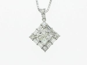 【PT900】0.70ct UP ダイヤモンドネックレス