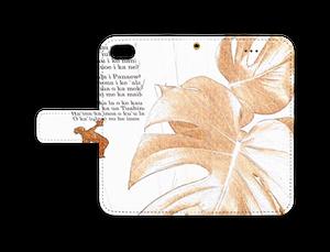 iPhone 8 / 7 手帳型ケース モンステラ