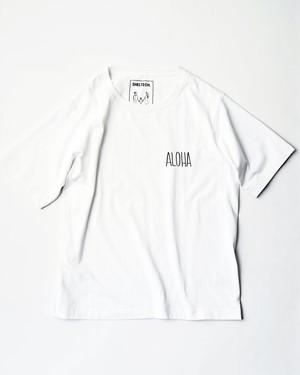 """SHELTECH x MAEKAWA MASATO """"ALOHA"""" Tシャツ(WHITE)"""