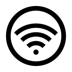 Wi-fi使用OKマークのカッティングシートステッカー