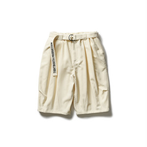TIGHTBOOTH PIQUE BIG SHORTS Ivory L