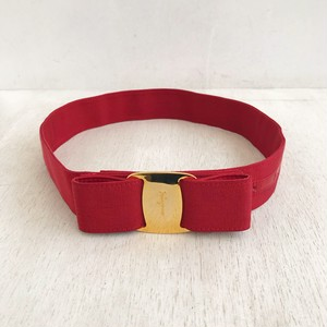 Ferragamo VARA red ribbon belt