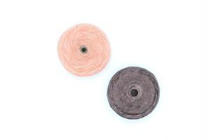2個 糸巻きビーズ 円盤型 約21mm